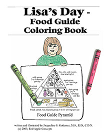 Lisa's Day Food Guide Coloring Book